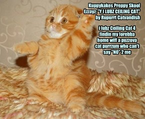 """Kuppykakes Preppy Skool Ezzayz: """"Y I LUBZ CEILING CAT"""" by Rupurrt Catvandish"""