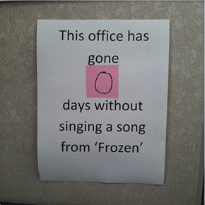 """Let Us Commence the Daily 1PM Performance of """"Let it Go"""""""