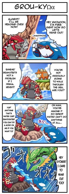 The Hoenn Legendary Trio Decides to Hang Out