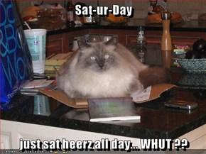 Sat-ur-Day  just sat heerz all day... WHUT ??