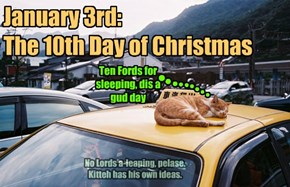 January 3rd:  The 10th Day of Christmas