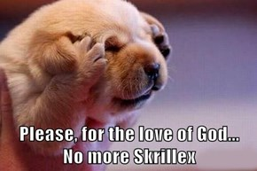 Please, for the love of God...              No more Skrillex