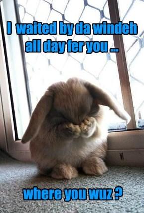 u maek bunny sad