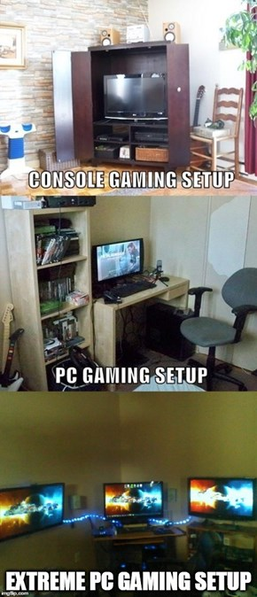 Real PC Gamers Use More Than One Screen