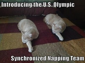 Introducing the U.S. Olympic  Synchronized Napping Team