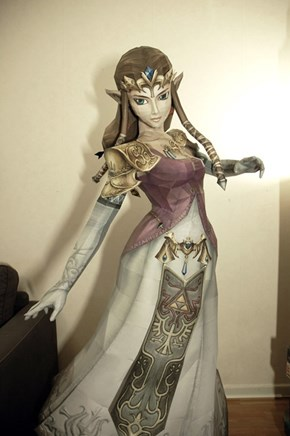 Life Size Zelda Made of Paper