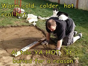 Warm,cold, colder, hot, real hot,  Ai tole YA HOT. It's buried for a reason.