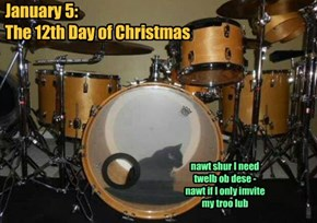 January 5:  The 12th Day of Christmas