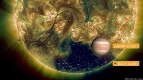 Coronal Hole in the Sun Is Hundreds of Times Larger Than the Earth