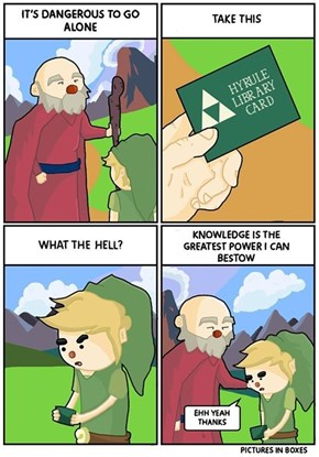 The Legend of Zelda: Library Card of Knowledge
