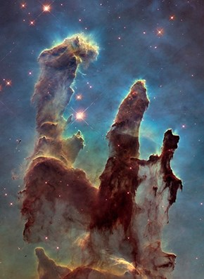 Hubble Takes a new Photo of the Pillars of Creation