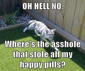 OH HELL NO.  Where's the a**hole that stole all my happy pills?