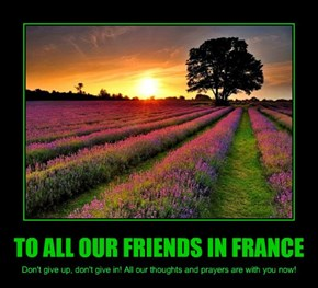 TO ALL OUR FRIENDS IN FRANCE