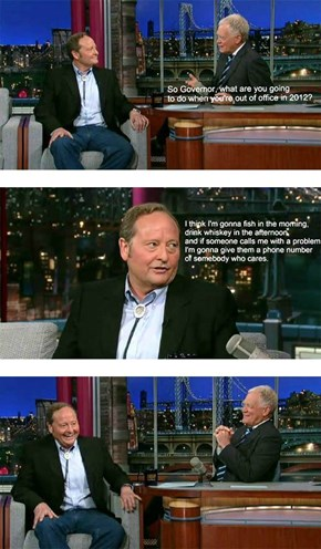 Former Montana Governor Brian Schweitzer Has Life All Figured Out