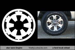 star wars Empire  Totally Looks Like a ford truck wheel