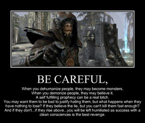 BE CAREFUL,
