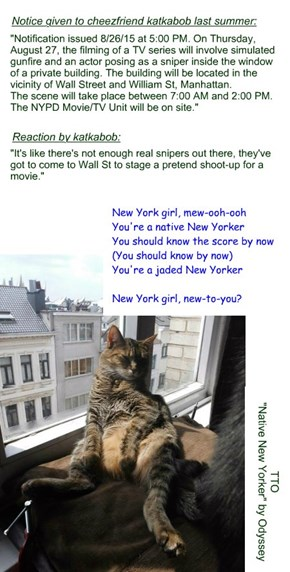 """It's NYC - Surprised?"" (TTO ""Native New Yorker"" by Odyssey)"