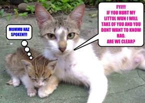 MOMMU HAZ SPOKEN!!!