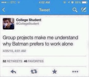 I Bet Robin Never Takes Credit for Work He Didn't Do