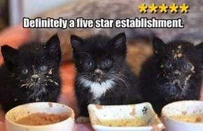 Definitely a five star establishment.