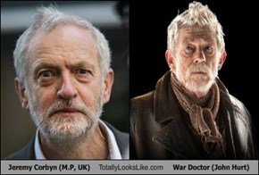 Jeremy Corbyn (M.P, UK) Totally Looks Like War Doctor (John Hurt)