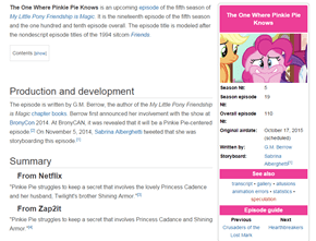 [SPOILER ALERT] The One Where Pinkie Pie Knows