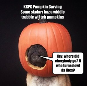 Pmpkin carving gone wrong.