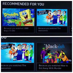 Hulu Recommendations FAIL