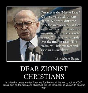 DEAR ZIONIST CHRISTIANS