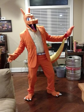 Look at This Guy's Awesome Charizard Halloween Costume