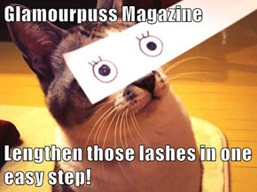Glamourpuss Magazine  Lengthen those lashes in one easy step!