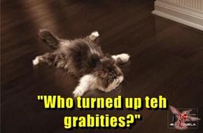 """Who turned up teh grabities?"""
