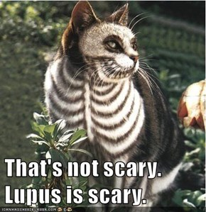 That's not scary. Lupus is scary.