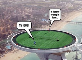 World's tallest tennis court in Dubai...