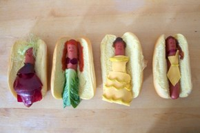 Disney Princesses Imagined as Hot Dogs