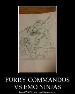 FURRY COMMANDOS VS EMO NINJAS
