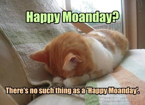 There's no such thing as a 'Happy Moanday'.