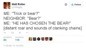 Give the Bear Something Good to Eat