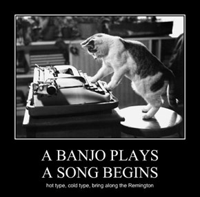 A BANJO PLAYS A SONG BEGINS