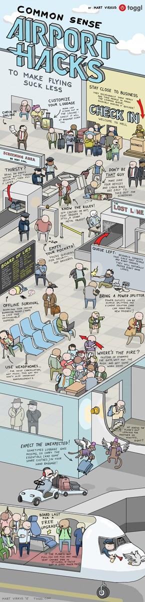Necessary To Read: Airport Hacks