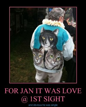 FOR JAN IT WAS LOVE @ 1ST SIGHT
