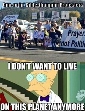 Gun-totin' Bible-thumpin' Protesters