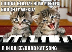 I DIDNT REALIZE HOW MENIES NAUGHTY WERDZ   R IN DA KEYBORD KAT SONG