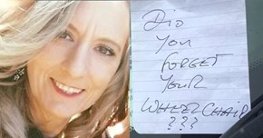 Open Letter of The Day: Mom With Multiple Sclerosis Responds to Nasty Note Left on Her Car