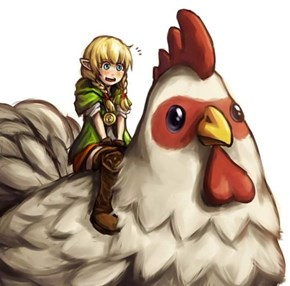 Linkle Riding A Giant Cock