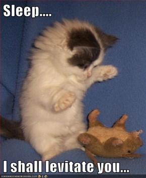 Sleep....  I shall levitate you...