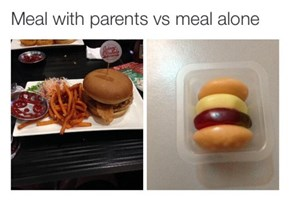 Parents Always Assume You Haven't Been Eating Real Food Anyways