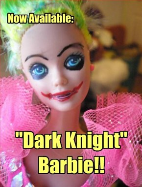 "Now Available: ""Dark Knight"" Barbie!!"