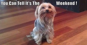 You Can Tell It's The                    Weekend !