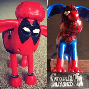 Spider-Man Gromit and Deadpool Shaun the Sheep